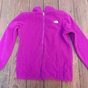 The north face girl youth fleece jacket size xl